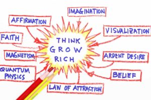 shows the 13 principles of thinking and growing rich